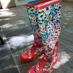 NEW WITH TAGS ANTHROPOLOGIE FLORAL RAIN BOOTS